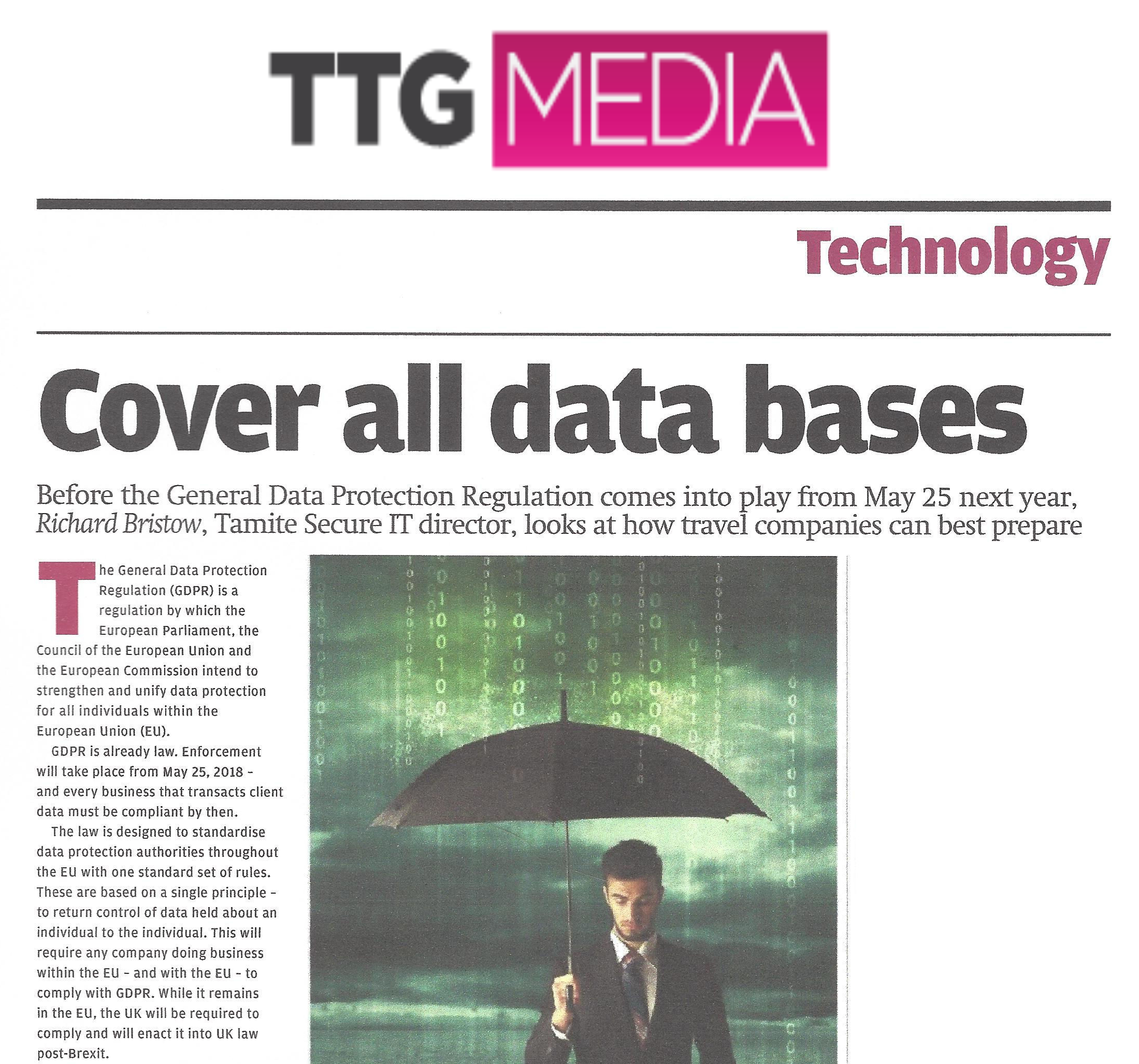 Tamite TTG GDPR article November 2017